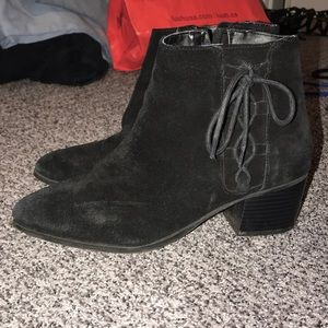 Topshop Booties with Lace Up Detail